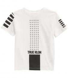 True Religion Little Boys White Horseshoe Repeat T-Shirt