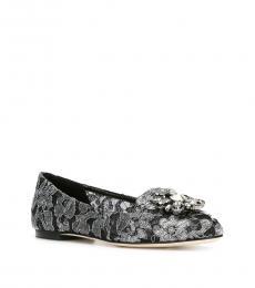 Dolce & Gabbana Black Silver Vally Dancer Ballerinas