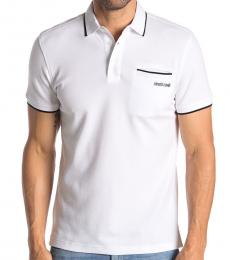 White Pipe Trim Patch Polo