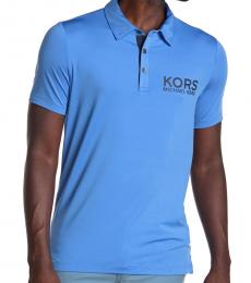 Michael Kors Blue Logo Print Polo
