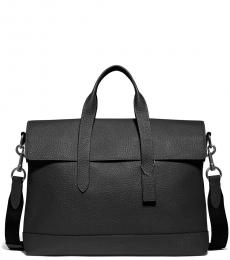Coach Black Hamilton Portfolio Large Briefcase Bag