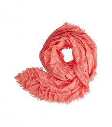 Armani Jeans Rose Solid Logo Scarf