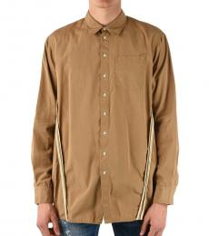 Dsquared2 Brown Along Front Shirt