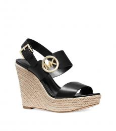 Michael Kors Black Summer Logo Platform Wedges