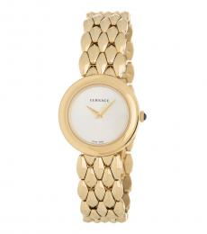 Versace Gold White Dial Watch