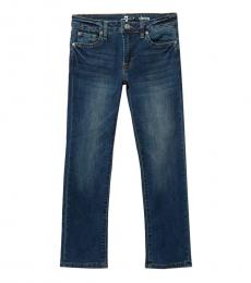 7 For All Mankind Boys Blue Slimmy 5 Pocket Jeans