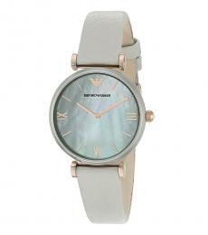 Emporio Armani Grey Gianni T-Bar Watch