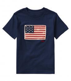 Ralph Lauren Boys Newport Navy Flag T-Shirt
