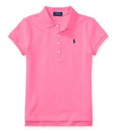 Ralph Lauren Girls Pink Logo Polo
