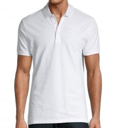 Versace Collection White Solid Classic Polo