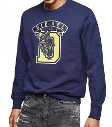 Diesel Navy Blue Graphic Logo Sweatshirt