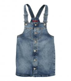 7 For All Mankind Girl Blue Denim Overall Dress