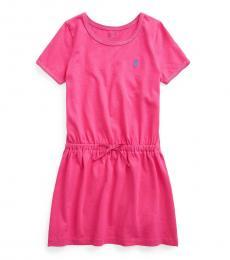 Ralph Lauren Little Girls Pink Jersey T-shirt Dress