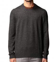 Fay Dark Grey Contrasting Detail Sweater