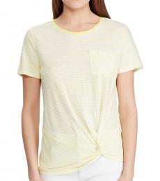 Ralph Lauren Multi Striped Linen Blend Top