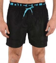 Diesel Black Drawstring Wave Swimswear