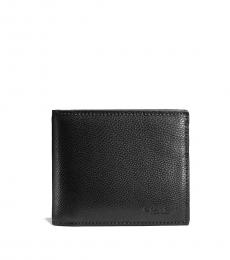 Coach Black Compact Id Wallet