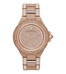 Michael Kors Rose Gold Camille Crystal Watch