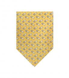 Salvatore Ferragamo Yellow Birds Print Tie