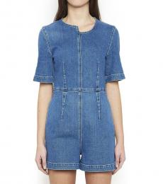 Stella McCartney Blue Denim Jumpsuits