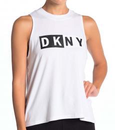 DKNY Opticheather Logo Print Tank Top