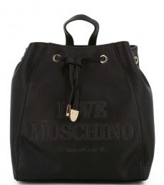 Black Made With Love Medium Backpack