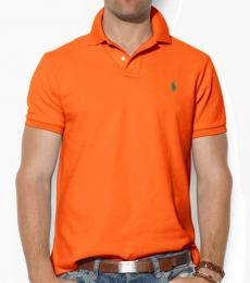 Ralph Lauren Orange Heather Custom Fit Logo Polo