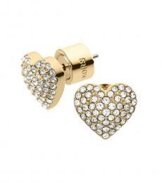 Michael Kors Gold Heart Stud Earrings