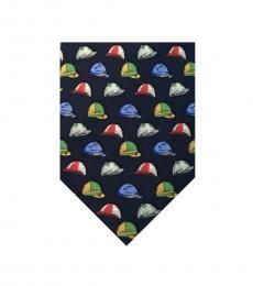 Ralph Lauren Blue Hat Print Tie