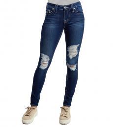 True Religion Paradise Falls Distressed Skinny Stretch Jeans