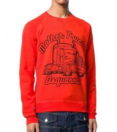 Orange Graphic Logo Sweatshirt
