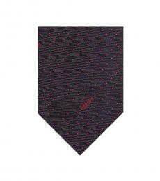 Moschino Blue-Red Pin Dot Signature Tie