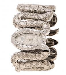 Silver Cleopatra Stones Snake Bracelet Watch
