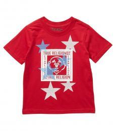 True Religion Little Boys Red Buddha Star T-Shirt