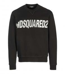 Dsquared2 Black Front Logo Sweatshirt