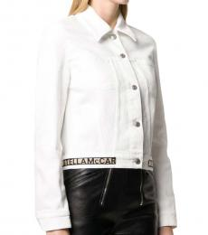 White White Logo Crop Jacket