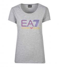 Grey Trendy Logo T-Shirt