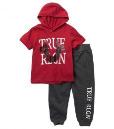 True Religion 2 Piece Hoodie/Joggers Set (Little Boys)