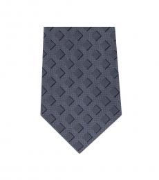 Michael Kors Grey Neat Shadow Square Slim Silk Tie