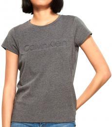 Calvin Klein Dark Grey Embossed Logo Top