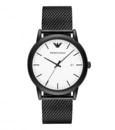 Emporio Armani Black White Dial Watch