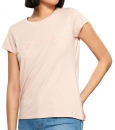 Calvin Klein Blush Embossed Logo Top