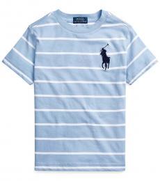 Ralph Lauren Little Boys Austin Blue Multi Striped T-Shirt
