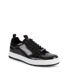 Karl Lagerfeld Black Lace-Up Sneakers