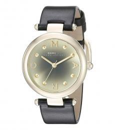 Marc Jacobs Black Round Modish Watch