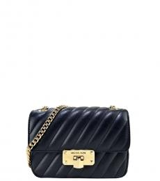 Michael Kors Black/Gold Peyton Mini Shoulder Bag
