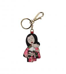 Dolce & Gabbana Multi color Family Print Key Holder