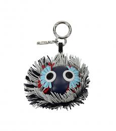 Fendi Blue Fringes Logo Charm