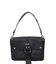 Moschino Black Vintage Medium Shoulder Bag