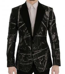 Dolce & Gabbana Black Monkey Slim Fit Blazer